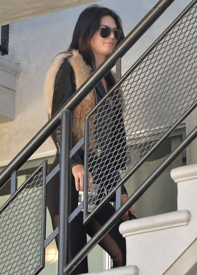 Kendall Jenner in Leggings -01