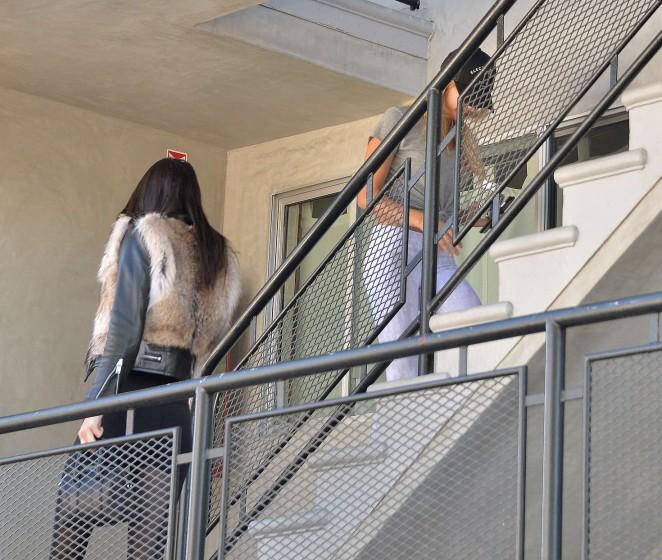 Kendall Jenner in Leggings -03