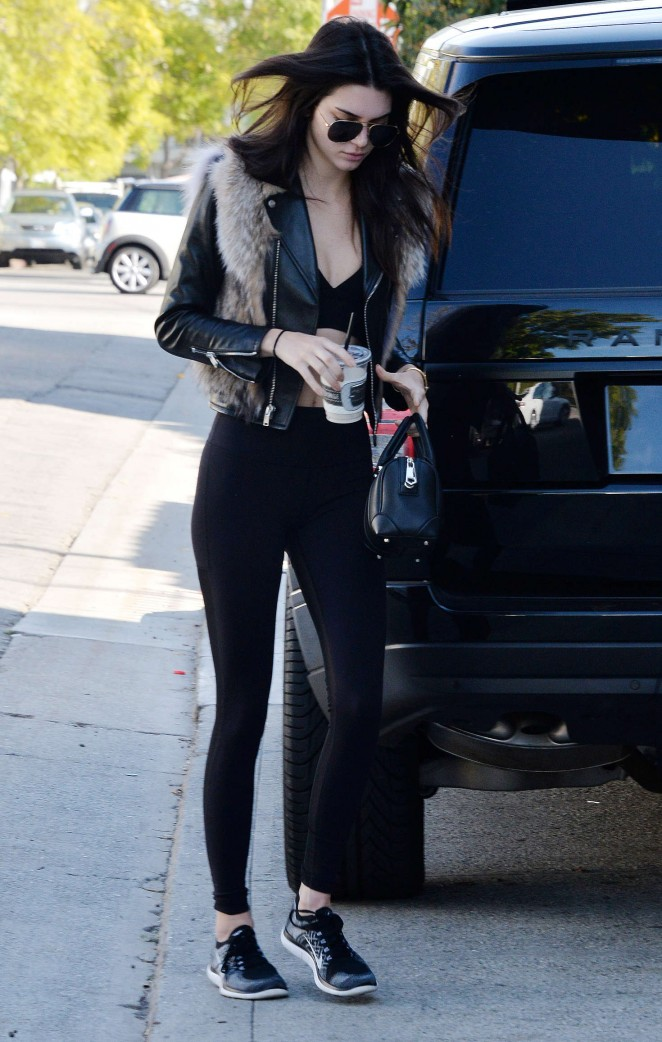 Kendall Jenner in Leggings -20