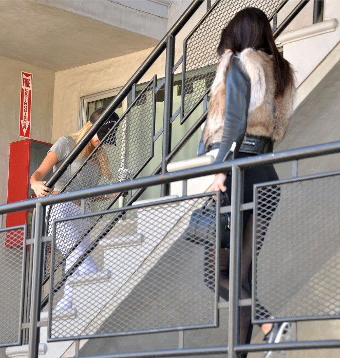Kendall Jenner in Leggings -29