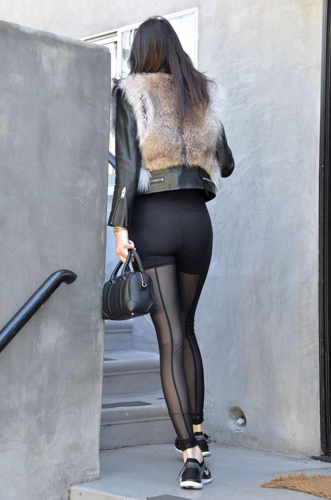 Kendall Jenner in Leggings -34