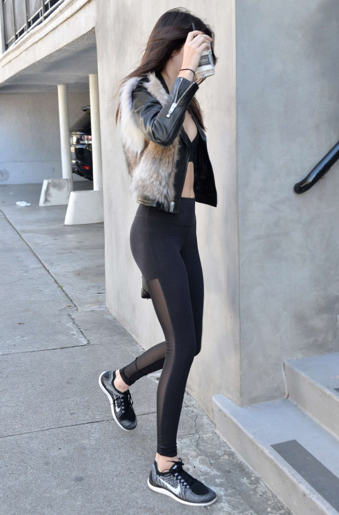 Kendall Jenner in Leggings -45