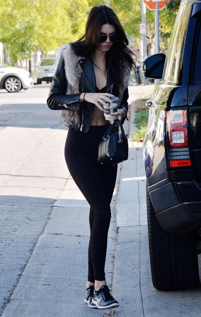 Kendall Jenner in Leggings -49