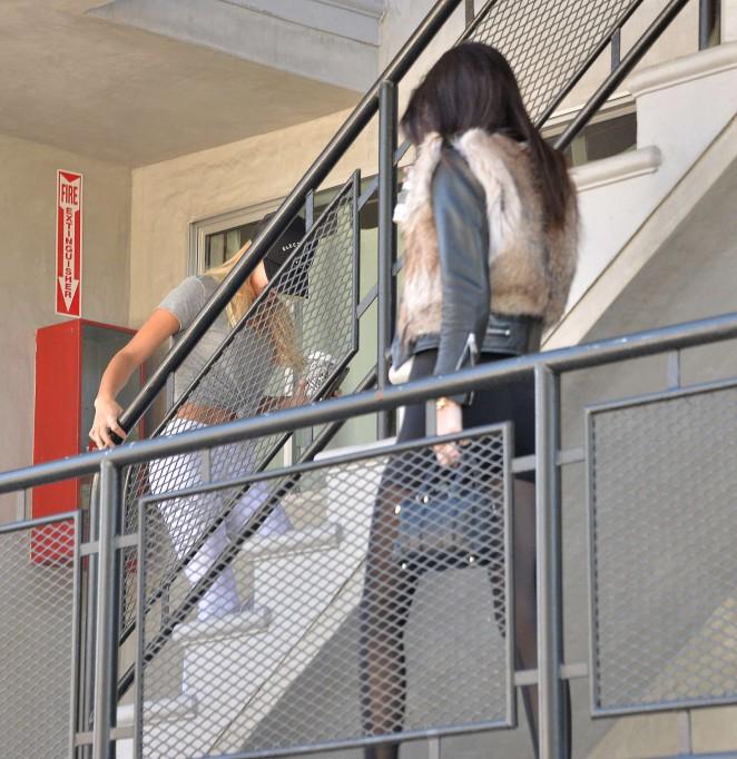Kendall Jenner in Leggings -55