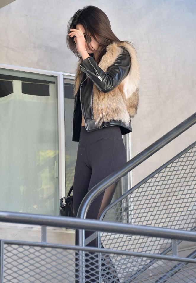Kendall Jenner in Leggings -62