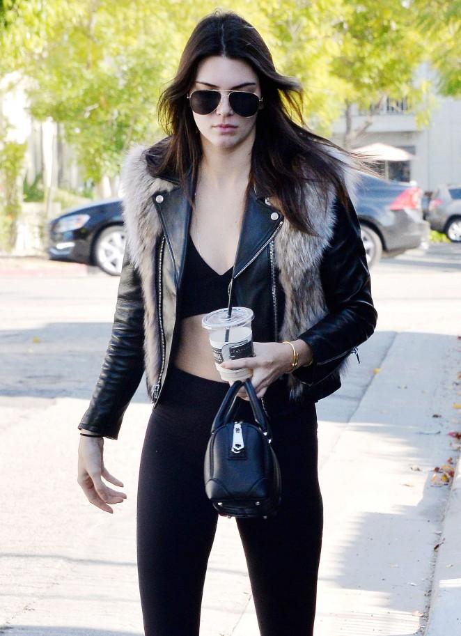 Kendall Jenner in Leggings -66