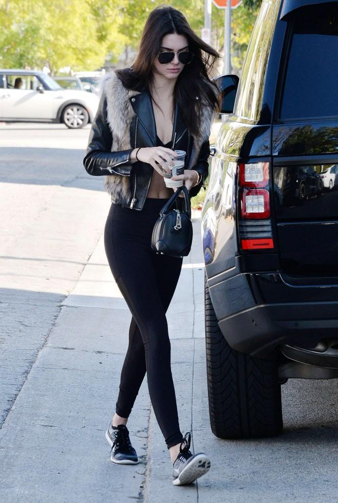 Kendall Jenner in Leggings -72