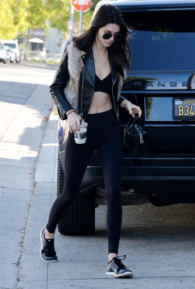 Kendall Jenner in Leggings -76