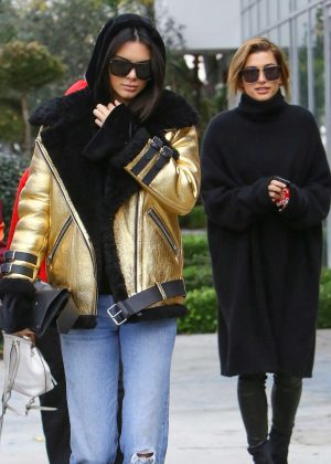 Kendall Jenner and Hailey Baldwin - Leave Zinque cafe in West Hollywood