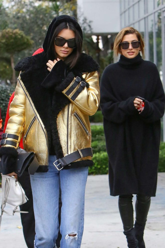 Kendall Jenner and Hailey Baldwin – Leave Zinque cafe in West Hollywood