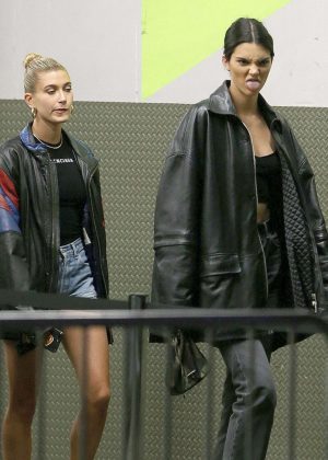 Kendall Jenner and Hailey Baldwin - Leaves MILK studios in New York