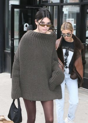 Kendall Jenner and Hailey Baldwin - Out and about in New York