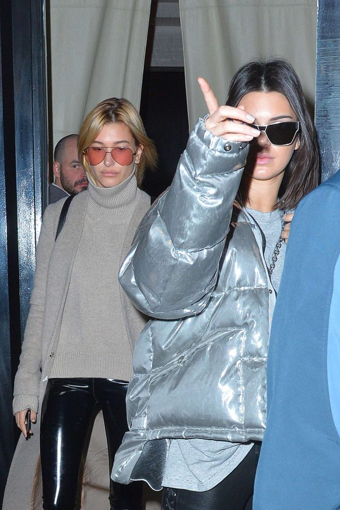 Kendall Jenner and Hailey Baldwin – Out for lunch in NYC