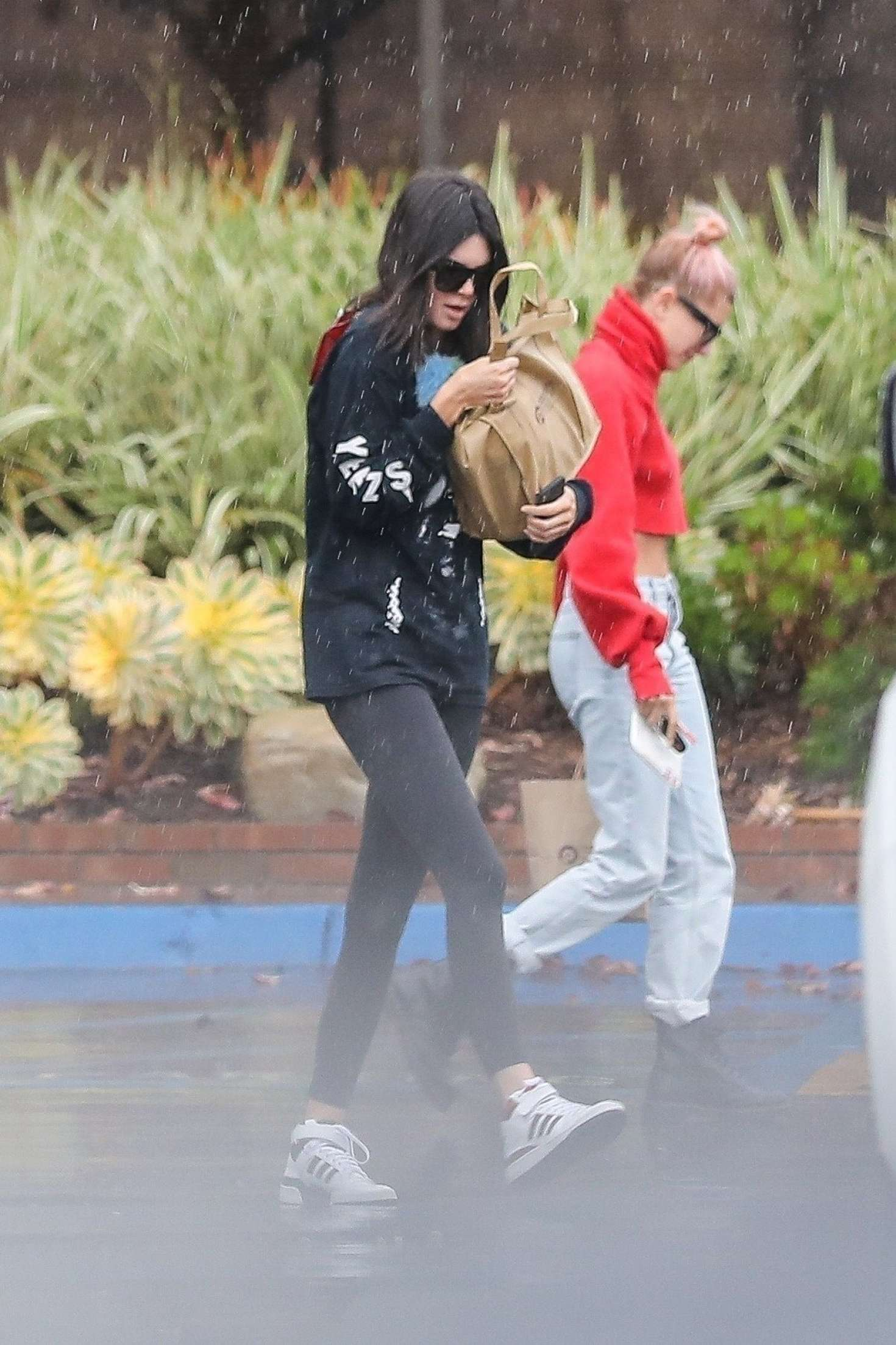 Kendall Jenner and Hailey Baldwin - Visit a lawyer's office in Santa Monica
