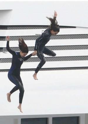 Kendall Jenner and Hailey Baldwin in Bikinis -04