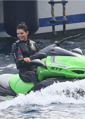 Kendall Jenner and Hailey Baldwin in Bikinis -06