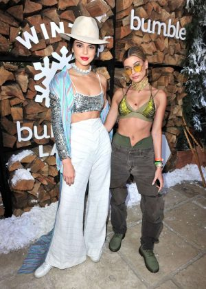 Kendall Jenner and Hailey Baldwin - Winter Bumberland Party at 2017 Coachella in Indio