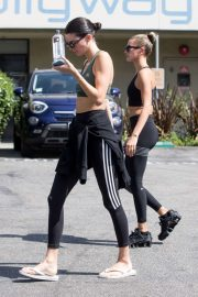 Kendall Jenner and Hailey Bieber - leaving Pilates in West Hollywood