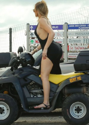 Kendall Jenner and Khloe Kardashian - Riding ATV's in St.Barts