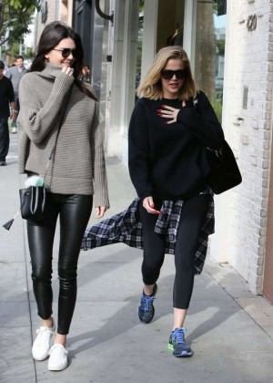 Kendall Jenner and Khloe Kardashian - Shopping candids in Beverly Hills