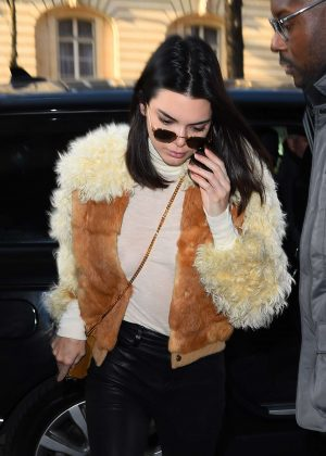 Kendall Jenner - Arrives at a fitting for Givenchy in Paris