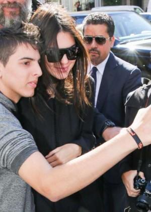 Kendall Jenner: Arrives at George V Hotel -01