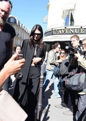 Kendall Jenner: Arrives at George V Hotel -02