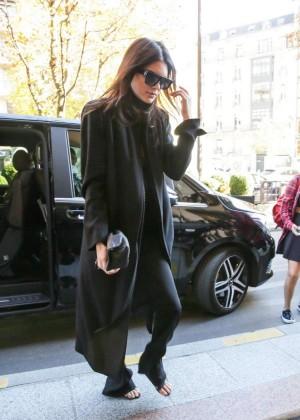 Kendall Jenner: Arrives at George V Hotel -05