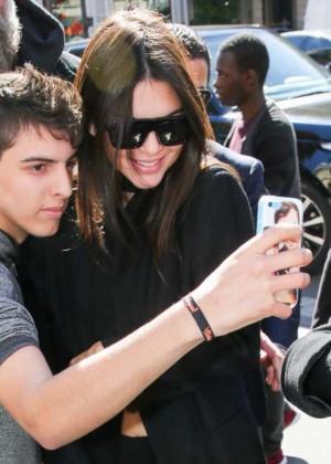 Kendall Jenner: Arrives at George V Hotel -09