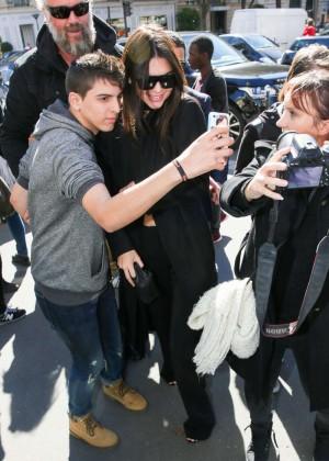 Kendall Jenner: Arrives at George V Hotel -11