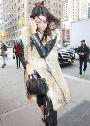 Kendall Jenner Arrives at her hotel in New York