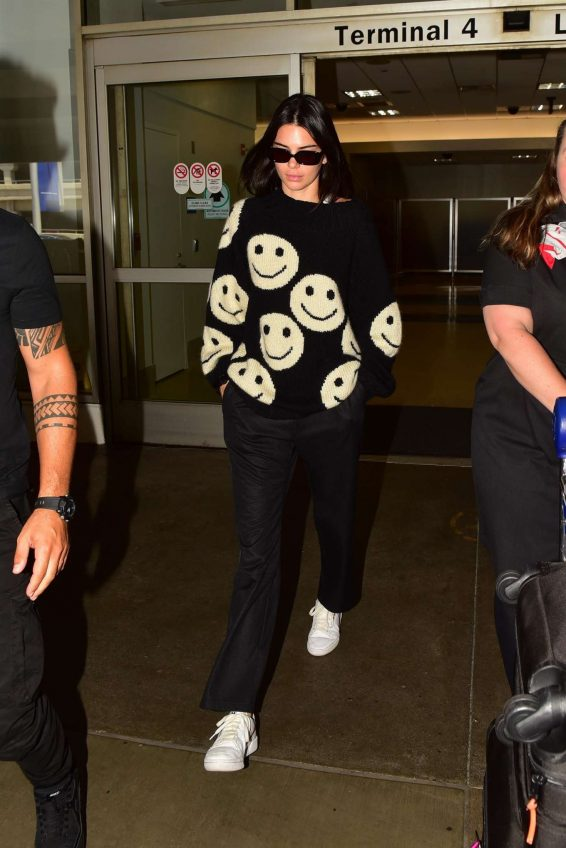 Kendall Jenner - Arrives at LAX International Airport in LA