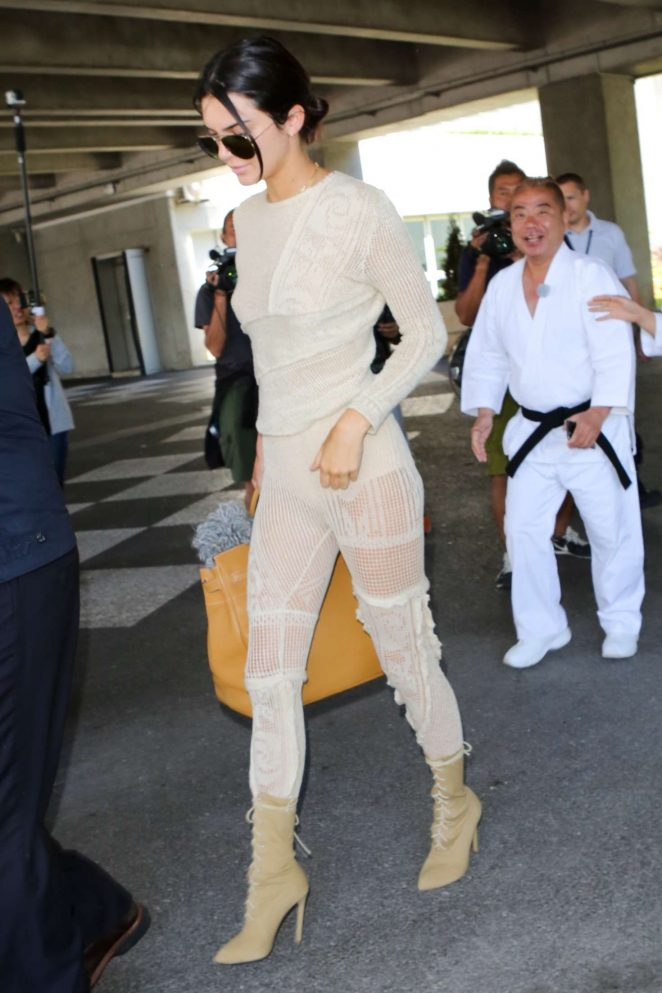 Kendall Jenner - Arrives at Nice airport in Cannes