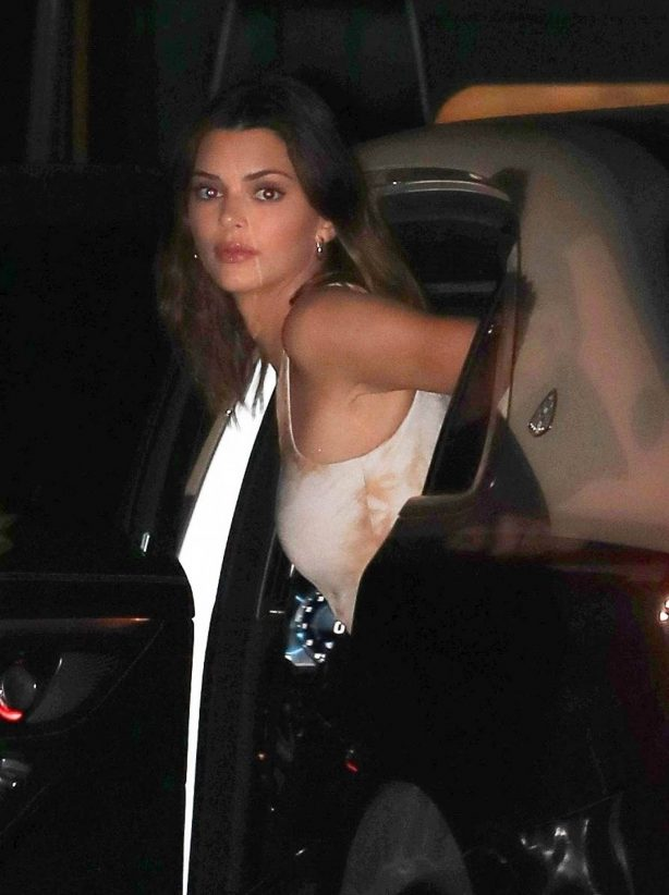 Kendall Jenner - Arriving at a party thrown by Justin Bieber in Beverly Hills