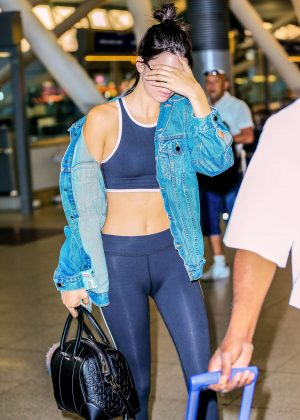 Kendall Jenner - Arriving at JFK Airport in New York City