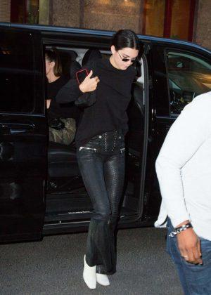 Kendall Jenner - Arriving at Kinugawa Restaurant in Paris