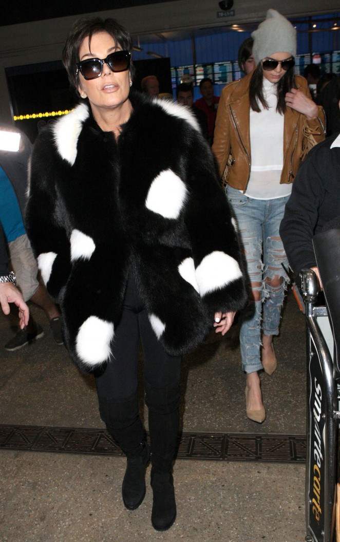 Kendall Jenner in Ripped jeans LAX -25
