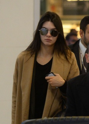 Kendall Jenner Arriving at London Heathrow Airport
