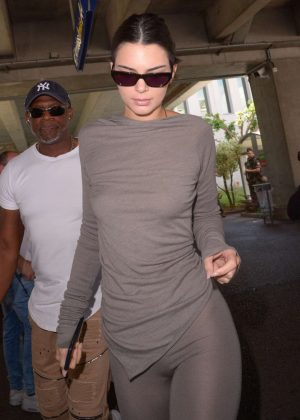 Kendall Jenner - Arriving at Nice Airport