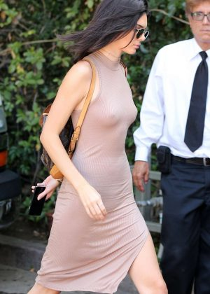 Kendall Jenner - Arriving at The Villa Restaurant in Woodland Hills