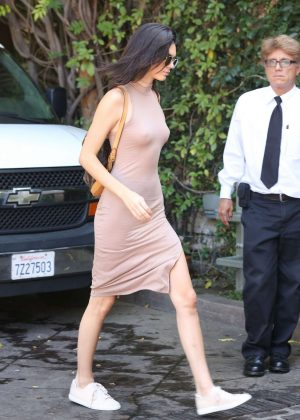 Kendall Jenner: Arriving at The Villa Restaurant -04