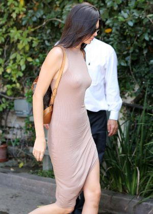 Kendall Jenner: Arriving at The Villa Restaurant -05