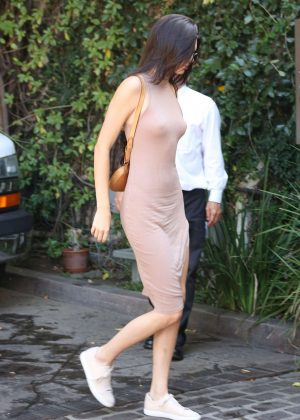 Kendall Jenner: Arriving at The Villa Restaurant -08