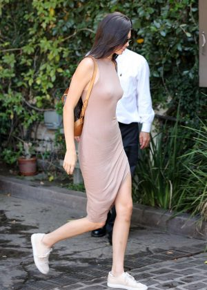 Kendall Jenner: Arriving at The Villa Restaurant -14