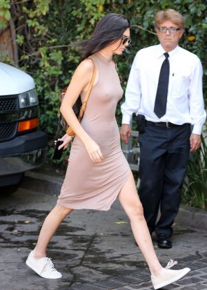 Kendall Jenner: Arriving at The Villa Restaurant -15