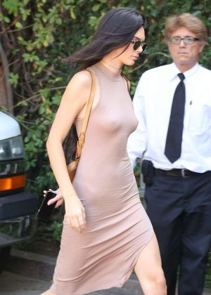 Kendall Jenner: Arriving at The Villa Restaurant -18