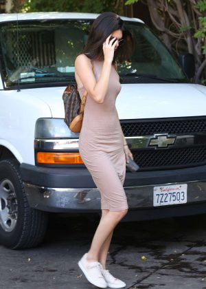 Kendall Jenner: Arriving at The Villa Restaurant -19