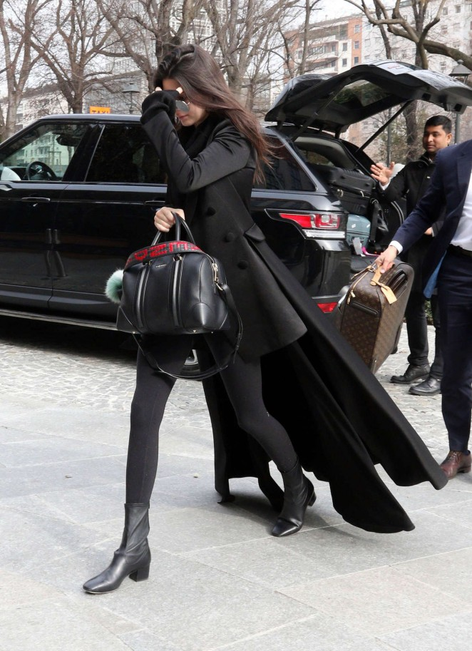 Kendall Jenner: Arriving in Milan -04