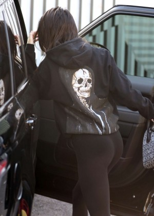 Kendall Jenner at a car service station in Los Angeles