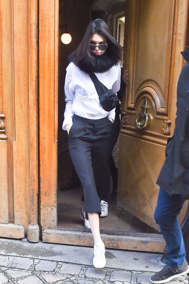 Kendall Jenner at a fitting in Paris
